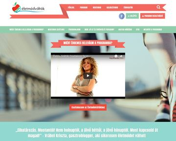 eletmodvaltok.com - made in Wordpress CMS