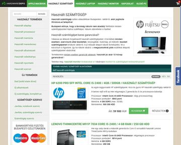 HardwareDEPO.hu is my first e-commerce website, I made in 2008