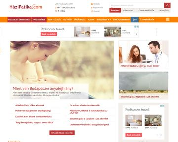 The HaziPatika.com is the market leader health website in Hungary